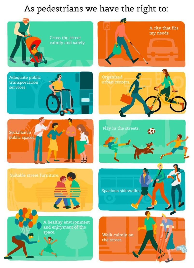 Pedestrians rights